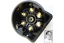 Distributor cap 400181 to suit DJ/DK6A distributors ,high quality , brass inserts ,supplied with acorn nuts & split washers, fits most 1930's 6 cylinder cars